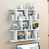 Industrial Wall-Mounted Wooden Pipe Racks Racks Retro Black Open Bookshelf Bookshelf DIY Storage Office Kitchen (Color : B, Size : 100cm)
