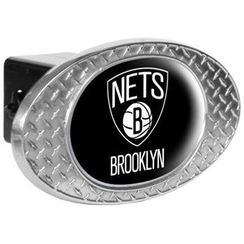 NBA Brooklyn Nets Metal Diamond Plate Trailer Hitch -