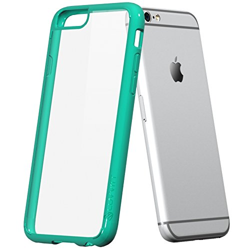 iPhone 6s Plus Case, LUVVITT [ClearView] Hybrid Scratch Resistant Back Cover with Shock Absorbing Bumper for Apple iPhone 6/6s Plus - Teal Mint Green