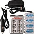 iPower 4 Bay 9V Battery Charger With 4 - 9v Lithium Polymer Batteries-by-Tecnec