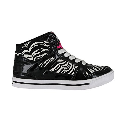 Gotta Flurt Hip Hop VI Girls Black White Hot Pink Dance Lifestlye Competition Shoe - Size 2 by Gotta Flurt