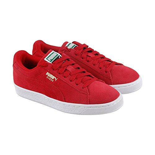Puma Mens Daim Classique + Sneaker, Risque Élevé Rouge / Blanc, 12 M Us