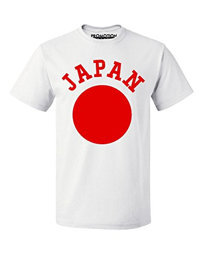 Promotion & Beyond Choose Your Country Flag Japan Men's T-Shirt, L, (Japan White Tee)