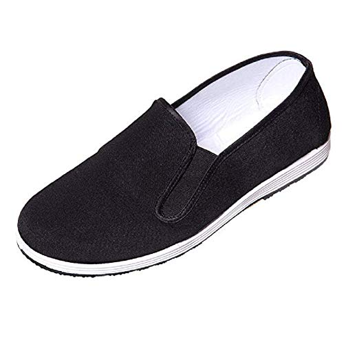 DoGeek Kung Fu Shoes Martial Arts Shoes Tai Chi Shoes Peking Shoes for Men/Women Old Beijing Shoes - Rubber Sole(39-45)