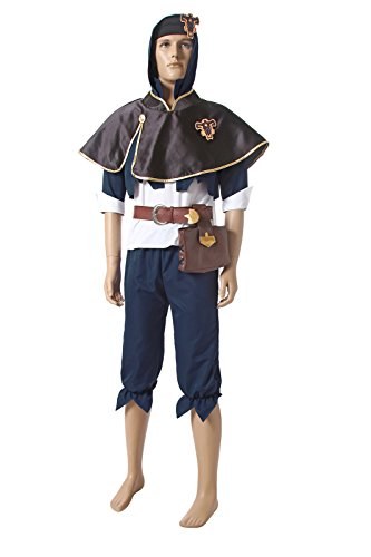 Nuoqi Black Clover Men's Asta Sutaria Anime Uniforms Cosplay Costumes GC332A