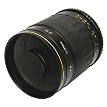 Opteka 500mm f/8 High Definition Telephoto Mirror Lens for Sony Alpha A99, A77, A65, A58, A57, A55, A37, A35, A33, A900, A700, A580, A560, A550, A390, A380, A330 and A290 Digital SLR Cameras