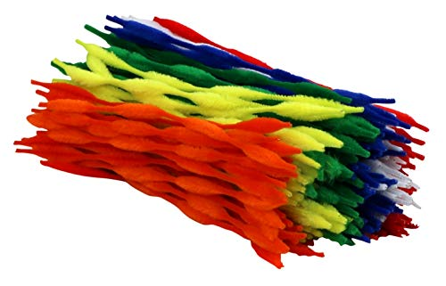 (Iconikal Pipe Cleaners Craft Chenille Stems with Bumps, 200-Count, Assorted Primary Colors)