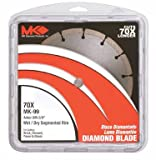 MK Diamond 159105 MK-99 7-Inch Dry or Wet Cutting Segmented Saw Blade with 5/8-Inch Arbor for Concrete and Brick