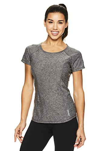 HEAD Womens Prime Short Sleeve Workout T Shirt - Performance Scoop Neck Activewear Top