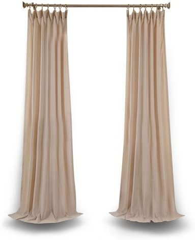 Rose Street Tumbleweed 96 x 50 in. Faux Linen Sheer Single Curtain Panel