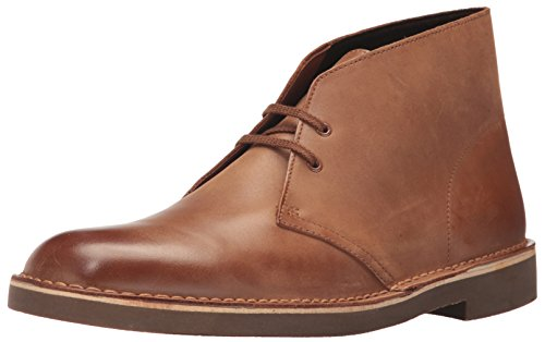 CLARKS Men's Bushacre 2 Chukka Boot, Dark tan Leather, 11 Medium -