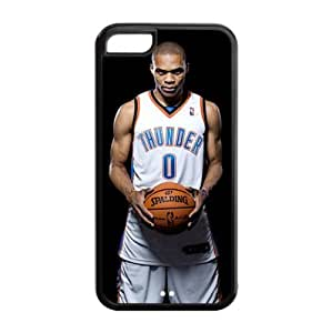 Oklahoma City Thunder Russell Westbrook Image Design Apple iPhone 5C TPU Case-by Allthingsbasketball