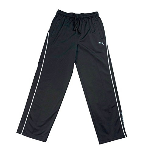 Puma Big Boys 8-20 Black Athletic Pants - Mesh Knit Warm-Up Pants Size Large by PUMA