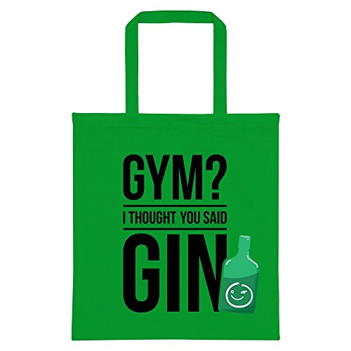 Gym You I Gin Said Thought Green Tote Bag avRaw
