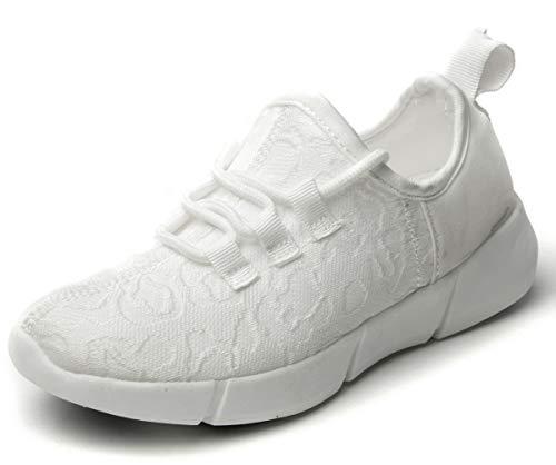 (SLEVEL Kids LED Light Up Shoes Dance Dazzle Sneaker for Boys)