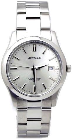 [オレオール]AUREOLE 腕時計 ステンレスバンド SW-409M-3 メンズ