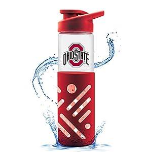 Duck House NCAA Ohio State Buckeyes Glass Water Bottle
