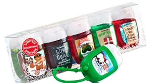 Bath and Body Works Pocketbac Set Santa's Favorites 9 pocketbacs and one holder gift set