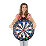 GIGGLE N GO 4 Games on 1 Magnetic Dart Board. Or
