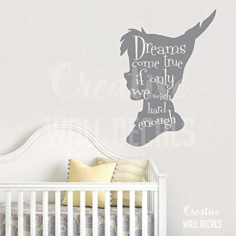 Amazon.com: Vinyl Wall Decal Sticker Peter Pan Kids Nursery dreams ...