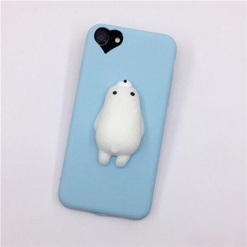 Phone Case & Hülle Für iPhone 6 Plus & 6s Plus, 3D Bär Muster Squeeze Relief TPU Squishy Schutzmaßnahmen zurück Fall Fall ( Size : Ip6p7901l )