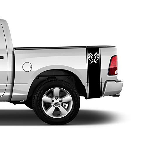Bubbles Designs 2 X Stickers Truck Bed or Car Stripe Compatible with Dodge Hemi Turbo Ram Pick up ()