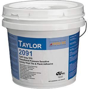 WF Taylor 2091-1 1 gal. Tuff-Grip Tps Pressure Sensitive Vinyl & Rubber Flooring Adhesive