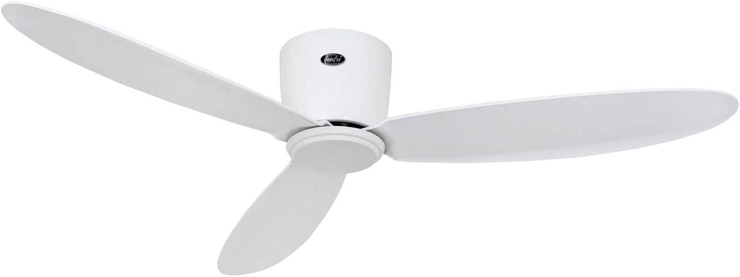 Casafan Eco Plano II Ventilador de Techo, Motor de Bajo Consumo DC, Blanco, 132cm