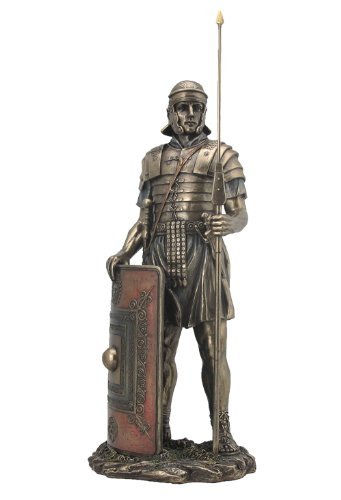 amazon com sale roman soldier with javelin and shield sculpture