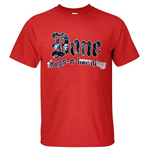 c33564794d3 PTTH Men s Music Band Bone Thugs-N-Harmony T-Shirt red L