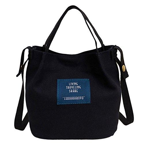 Snap Black Casual Top Women Small Handle Tote Fanspack Handbags Bag Crossbody for Magnetic Canvas Bag Shoulder q6I0xZwY