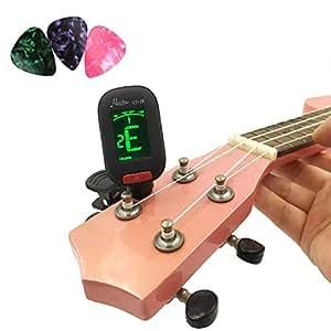 chromatic tuner for guitar bass violin and ukulele by bravodeal black musical. Black Bedroom Furniture Sets. Home Design Ideas