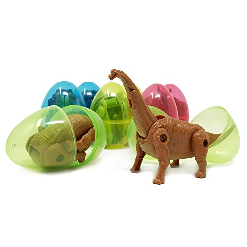 Boley 8-Pack Dino Mutants - Dino Egg Transforming Dinosaur Toy - Great as Dinosaur Party Supplies, Birthday Party Favors, and More -