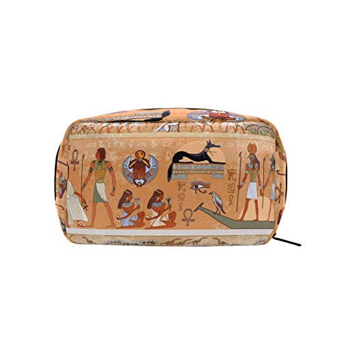 Egyptian Decor Makeup Bags Multi Compartment Pouch Storage Cosmetic Bag
