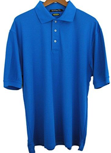 Heritage Cross 1025 Moisture Wicking Mens Golf Shirt (XL, Director Blue)