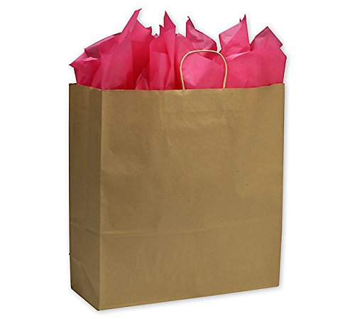 ABC Kraft Paper Shopping Bag, Jumbo 18 x 7 x 19