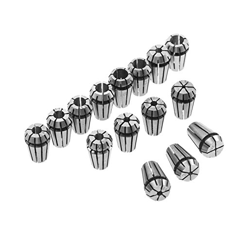 ER11 Collet 15Pcs Chuck 1mm-7mm for CNC Milling Chuck Lathe Tool Holder 1/8in-1/4in Engraving Machine Spindle Motor Spring Collet