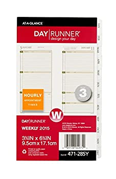 Day Runner Weekly Planner Refill 2015, 3.75 X 6.75 Inch Page Size (471-285y) 1