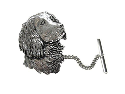 Spaniel Dog Head Tie Tack