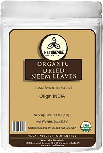 Organic Dried Neem Leaves 8oz product image