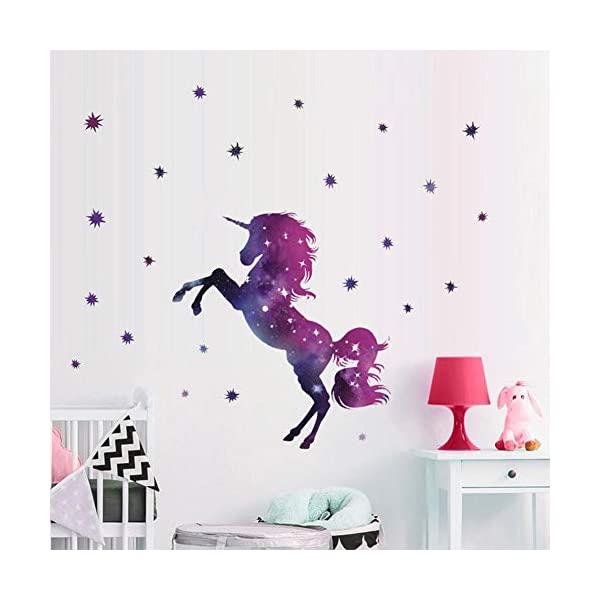 Bamsod Dream Unicorn Wall Stickers Kids Wall Decals Vinyl Art for Girls Boys Bedroom,Home Decor 14''x23.6'' 3