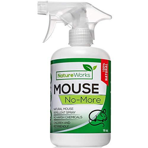Mouse No More I Mice Repellent Spray I Mice Rat & Squirrel Deterrent I Car & RV Defense | Natural Organic Peppermint Oil | Indoor + Outdoor | Pet Safe (16oz) (Repellent Peppermint Mouse)