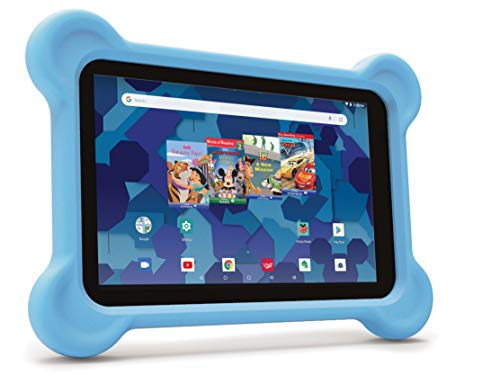 8-inch Tablet with Bumper case and Headphones (Blue)