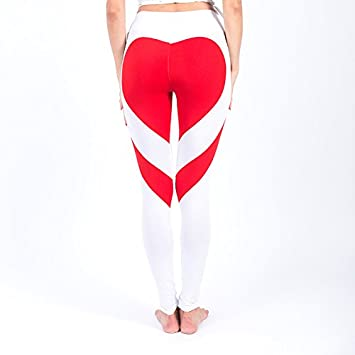 MAYUAN520 Hot Sexy Corazón Caderas Push Up Leggings Mujeres ...