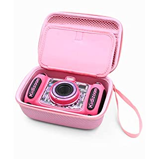 CASEMATIX Pink Kids Camera Case for VTech Kidizoom Camera Pix Duo Twist , Includes Case Only