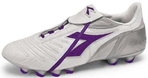 Diadora Women's Maracana MD PU, White/Purple-7.5 by Diadora