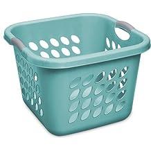 Sterilite 1.5 Bushel Square Ultra Laundry Basket, Teal Splash, Case of 4