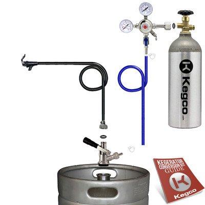 Kegco BF S1PK-5T Standard Party Beer Dispenser Keg Tap Kit, Black