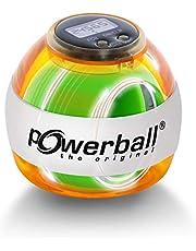 Powerball Max Red, gyroscopische handtrainer met rood lichteffect incl. snelheidsmeter, transparant rood, het origineel van Kernpower