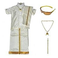 AMIRTHA Fashion Boys Pure Kanchipuram silk...